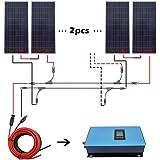ECO-WORTHY 1000W Gird Tie Solar System Kit 6 x 150W Solar Panel Charging 12V Home Power RV
