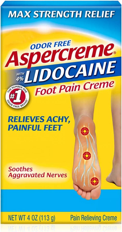 Aspercreme Lidocaine Diabetic Foot Creme, 4 oz: Health & Personal Care