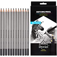 Dyvicl Drawing Pencils Set - 12 Pieces Sketching Pencils 10B 8B 6B 5B 4B 3B 2B B HB 2H 4H 6H Graphite Pencils for…