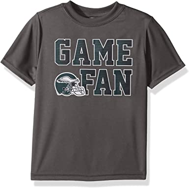 Team Color NFL Philadelphia Eagles Boys Short Sleeve Solid Logo Tee Shirt 3T