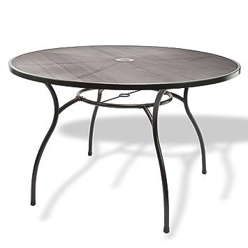 Table ronde en métal maillé \