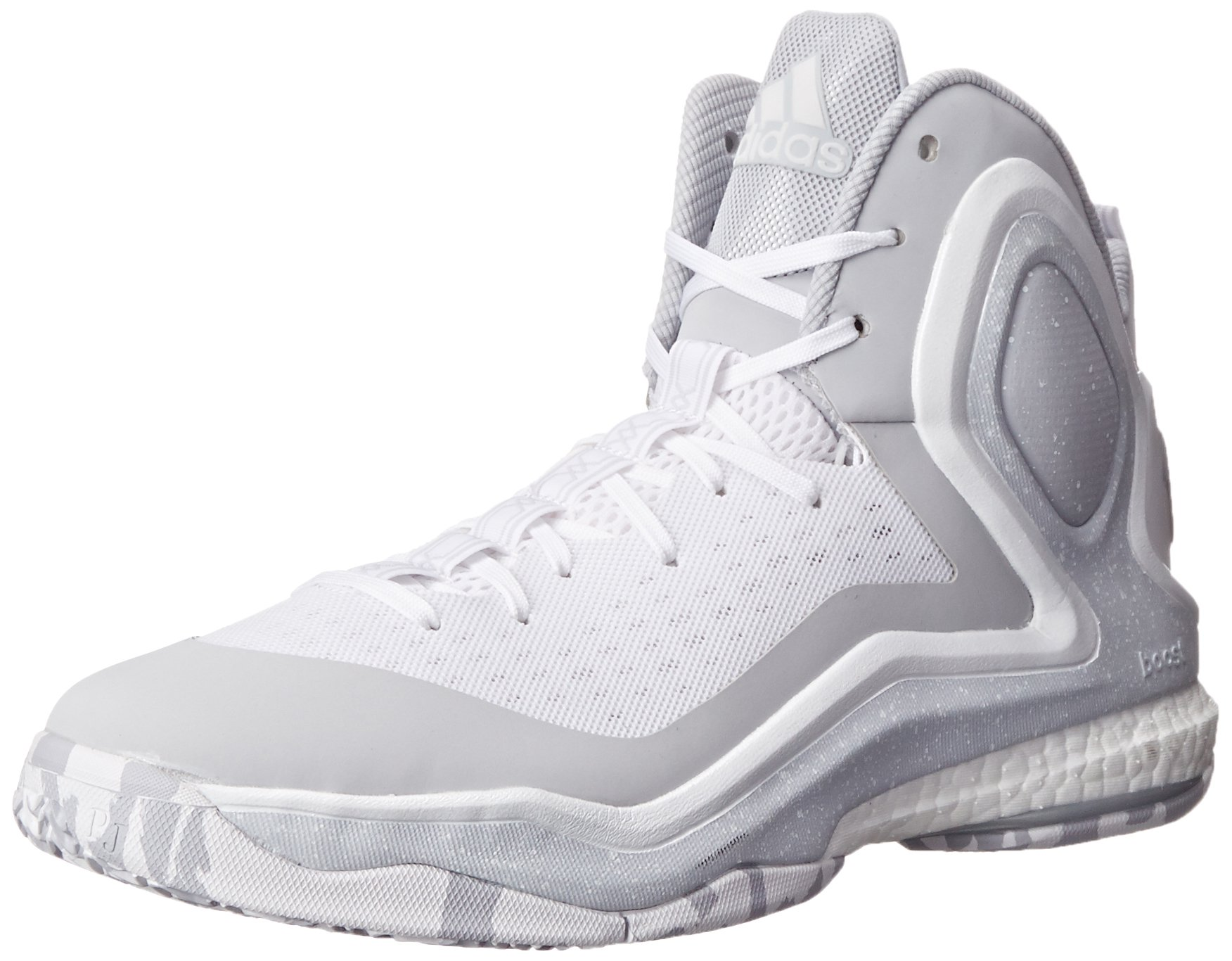 the best attitude dc1a2 70885 Galleon - Adidas Performance Men s D Rose 5 Boost Basketball Shoe,  White Grey White, 18 M US