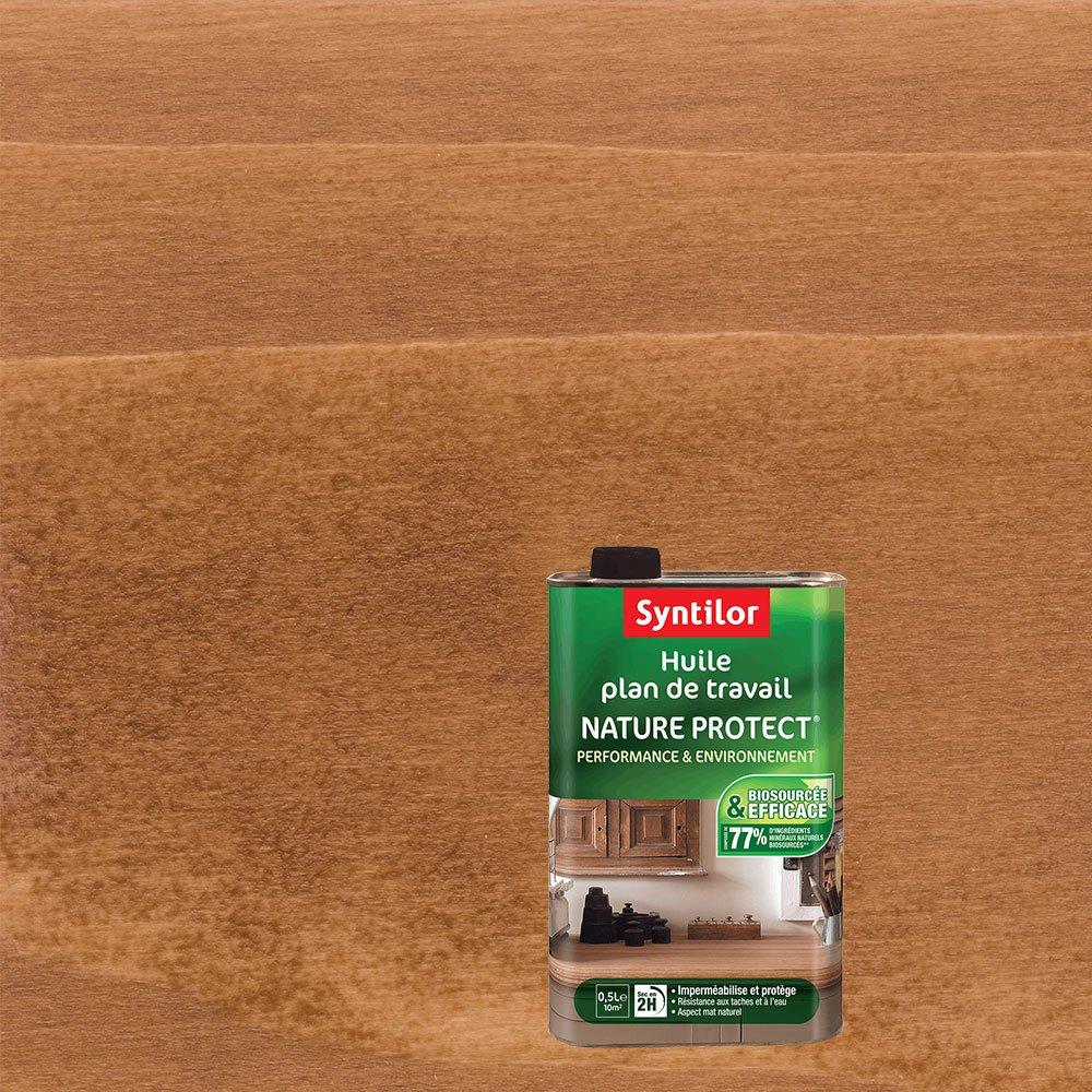 Huile Plan De Travail Nature Protect® Chêne 0, 5L Syntilor 00250015