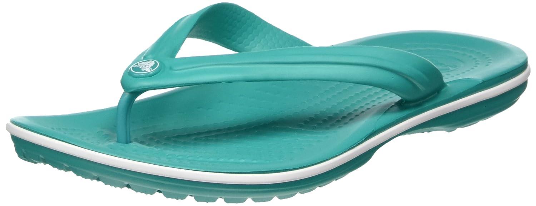 crocs Unisex-Erwachsene Crocband Flip Zehentrenner  48/49 EU|Gr眉n (Tropical Teal/White)