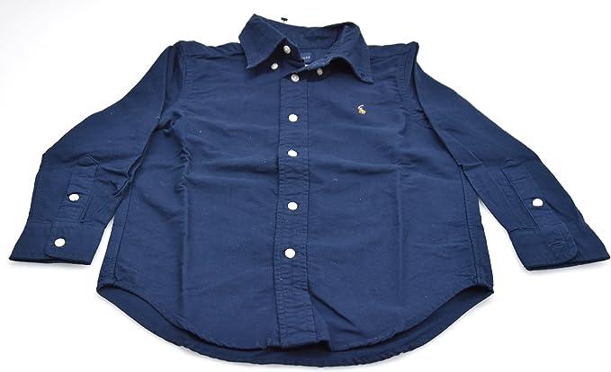 Polo Ralph Lauren Camisa para NIÑO Azul Oscuro Art. T04 014CS C8530 A413B 5 Anni/Years BLU Scuro - Dark Blue: Amazon.es: Ropa y accesorios