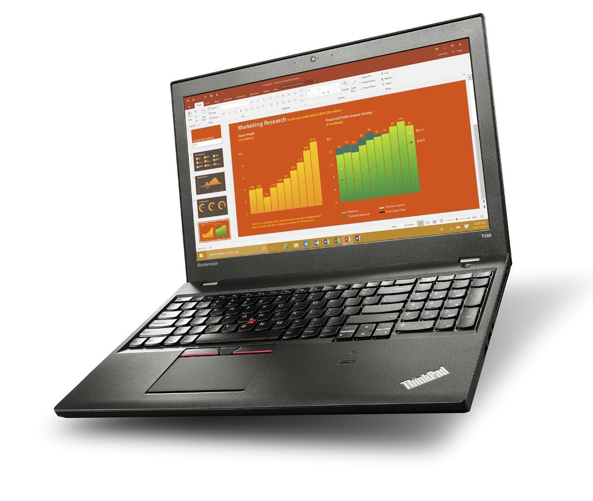 Lenovo Thinkpad Business-Ready Laptop T560 FHD (15.6'', i5-6200U 2.3GHz, 8GB RAM, 500GB 7200rpm, Backlit Keyboard, Webcam, Fingerprint Reader, Windows 7 Pro Downgradeable Windows 10 Pro) by Lenovo (Image #2)