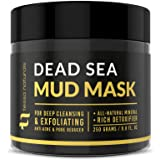 Dead Sea Mud Mask - Enhanced with Collagen - Reduces Blackheads, Pores, Acne, Oily Skin - Visibly Healthier Face & Body…