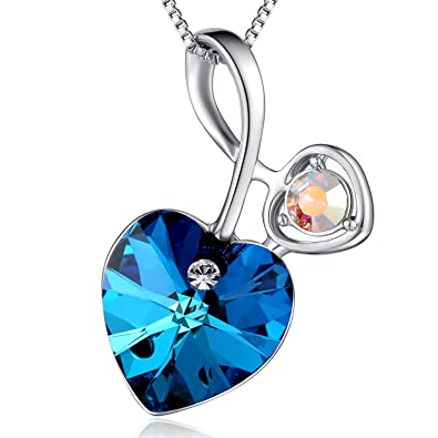 Amazon plato h heart of ocean blue necklace love heart pendant plato h heart of ocean blue necklace love heart pendant necklace ocean blue pendant necklace with aloadofball Image collections