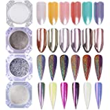Born Pretty Holographic Mirror Powder Confetti Chameleon Cloud Paillette Irregular Nail Art Glitter Sequins flakies
