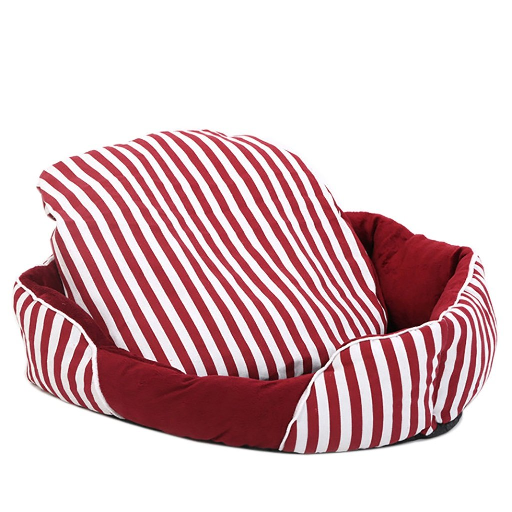 marchi di moda GJ@ GJ@ GJ@ + Nido di Gatto del Gatto del Cane dell'animale Domestico Rimovibile e Lavabile Quattro Stagioni ApplySmall Dog Bed Mat Dog Room, Strisce Rosse e Bianche, 78  67cm     vendite online