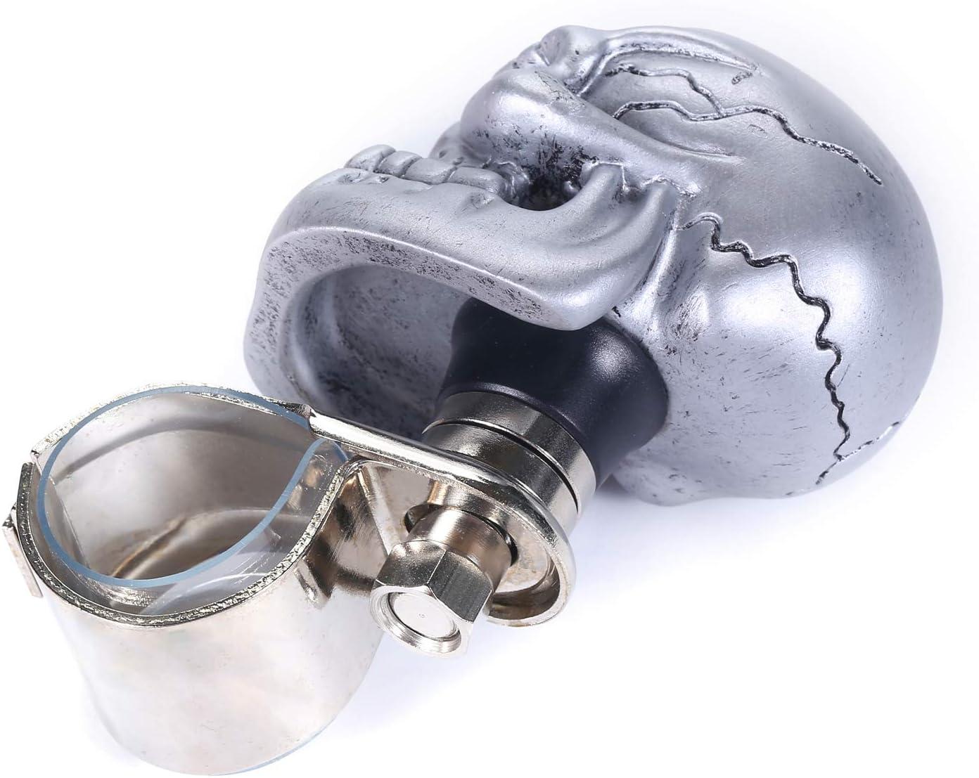 Beige Bashineng Power Handle Spinner Skull Car Assist Ball Steering Wheel Suicide Control Knob