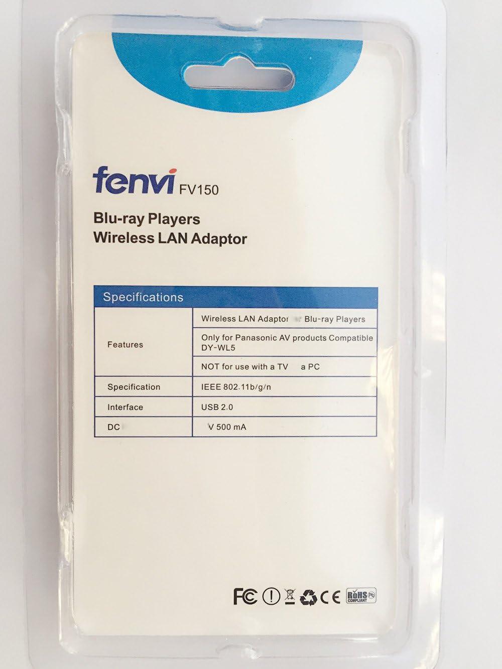 Panasonic DY-WL5 Wireless-N 802.11n WiFi Network LAN USB Adapter for DMR-HW120