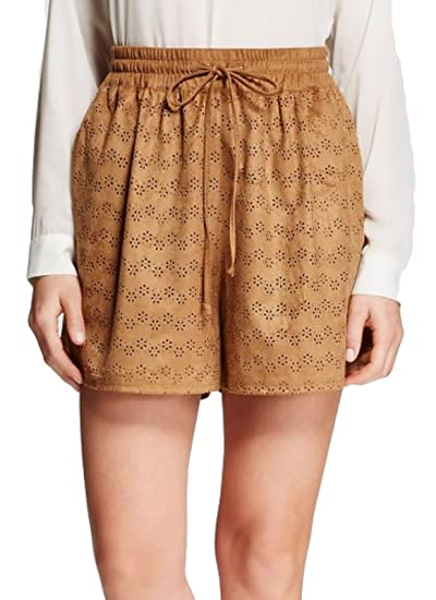 735d2b9d87 Mossimo Women's Faux Suede Shorts (X-Small, Brown) | Amazon.com
