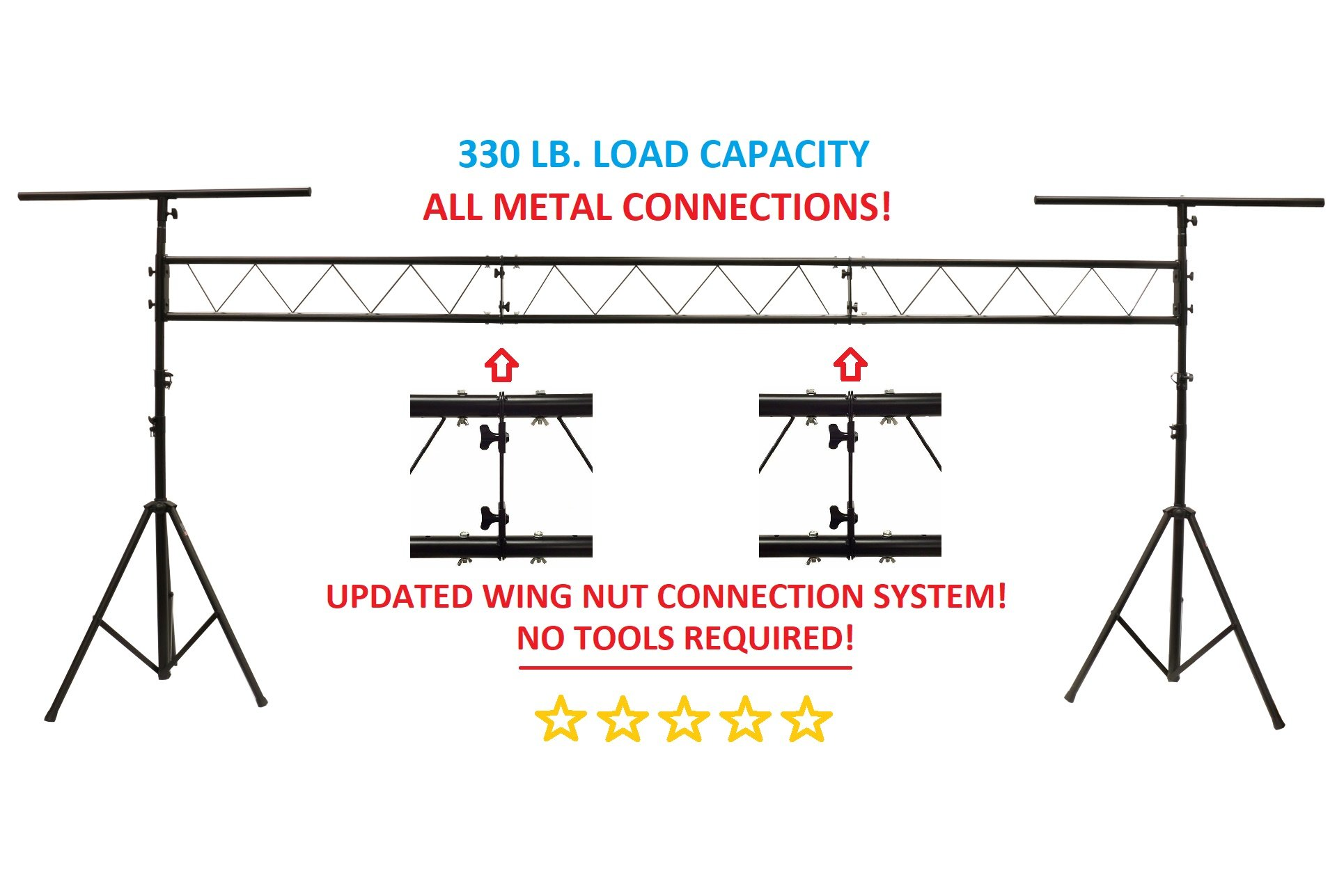Lighting Truss System Diagram Of Cedarslink 15ft Portable Dj Stand W T Bar Trussing Stage