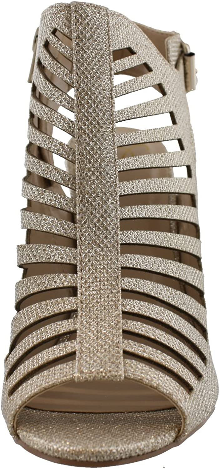 US, Light Gold//Metal Glitter M My Delicious Shoes Womens Shaky Synthetic Dress 6 B