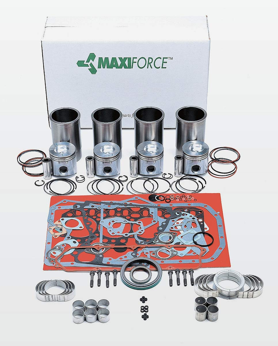 Perkins PK 4.108 Overhaul Kit New Bore: 3.1250'' Marine with Rope Seal 4 Cyl