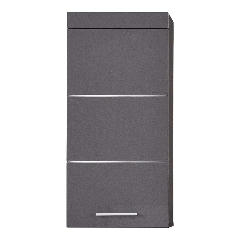 Trendteam smart living Badezimmer Hängeschrank Wandschrank Amanda, 37 x 77 x 23 cm in Agave grau Hochglanz mit viel Stauraum
