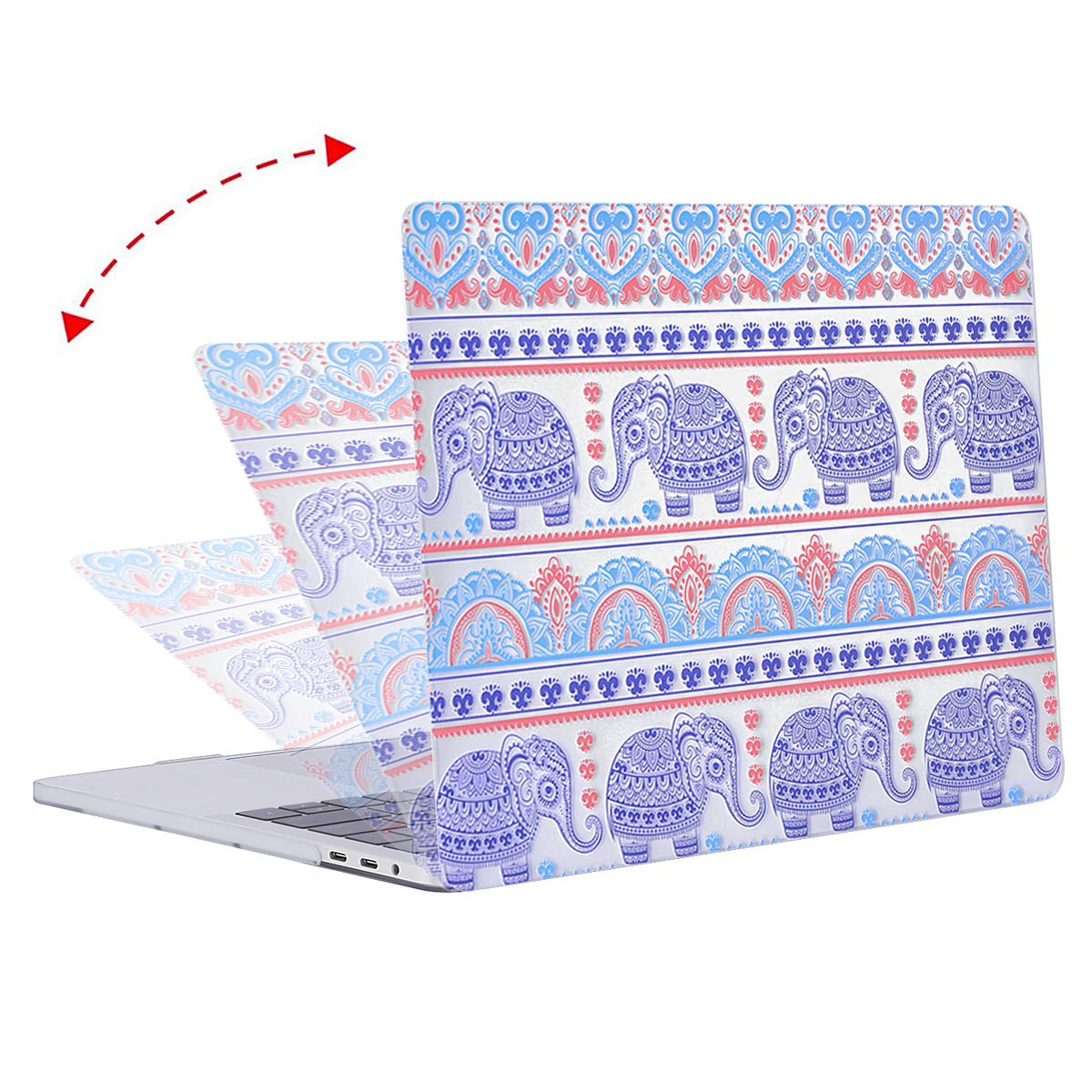 Cute Cartoon Cat Plastic Pattern Hard Case Shell Cover Compatible with MacBook Pro 13 with//without Touch Bar MOSISO MacBook Pro 13 inch Case 2016-2019 Release A2159 A1989 A1706 A1708