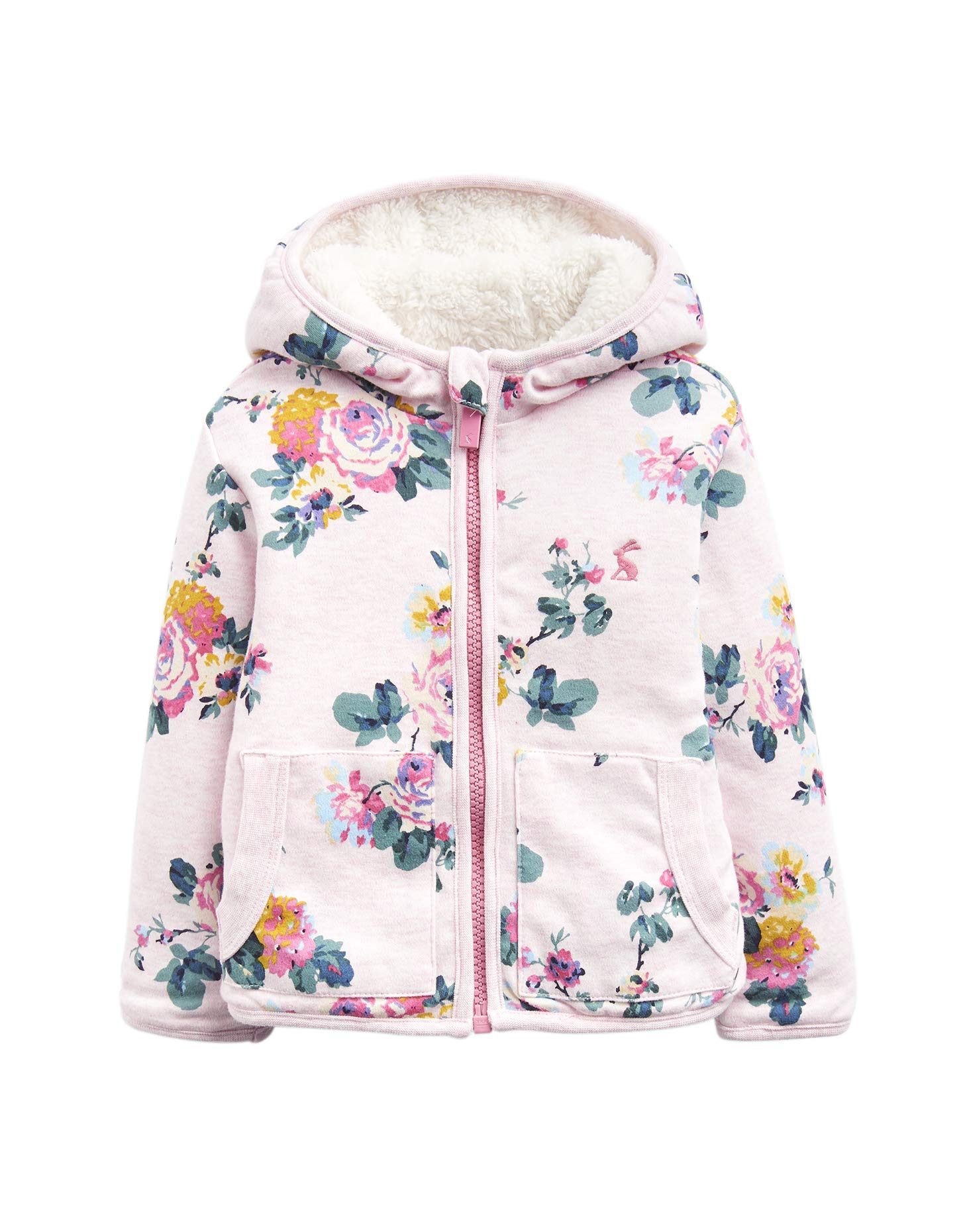 Joules Cosette Baby Reversible Sweatshirt - Pink Marl Sk - 18-24 Months / 92 cms by Joules
