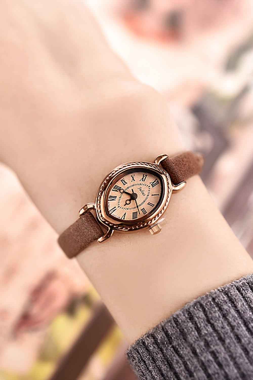 Generic When_a_Korean_ fashion _slim_ women girls _jacket_with_classic_wrist_ watch women girls watch quartz watch _waterproof_ women watch .