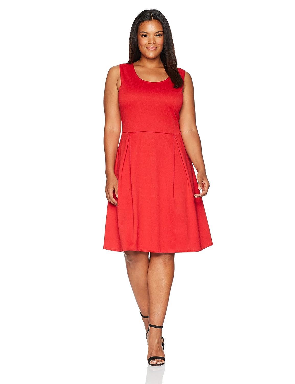 Star Vixen Women's Plus-Size Sleeveless Box-Pleat Dress Star Vixen Child Code 3723-PTX