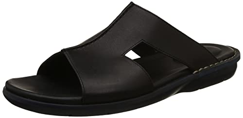 e3d52cf3aa0 Clarks Men s Polyflex Mule Black Leather Sandals-10 UK India (44.5 EU)