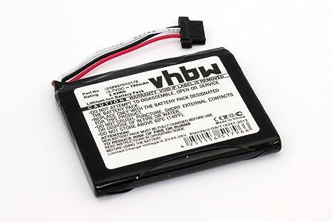 vhbw Batería li-on 790mAh (3.7V) para Sistema de navegación GPS Pioneer