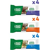 12-Pack Health Warrior Organic Pumpkin Seed Protein Bars Variety Pack, 8g Plant Protein, Gluten Free
