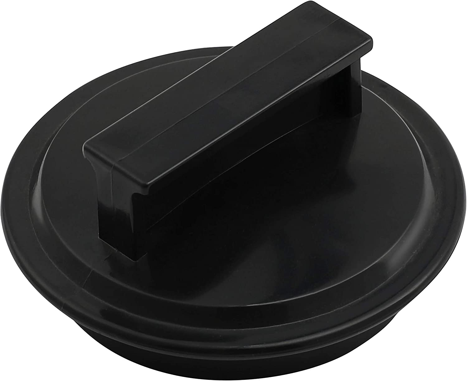 Garbage Disposal Drain Stopper, 2 7/8 Inch (7.5cm), Plastic Black Garbage Disposal Plug For Most Waste King Garbage Disposer and Other EZ Mount Disposals