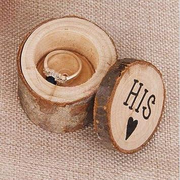 Philna12 - Caja de madera para anillos de boda (impresa en hermana y HIS): Amazon.es: Hogar