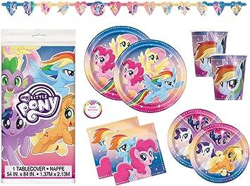 Amazon.com: My Little Pony Juego de suministros para fiestas ...