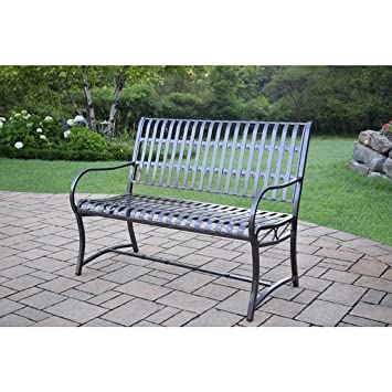 Aluminio/Hierro forjado Imperial banco, crear un clásico zona de estar en su patio con este banco de hierro y aluminio: Amazon.es: Jardín