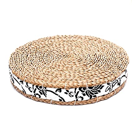 Amazon.com: Japanese Tatami Floor Pillow Zafu Natural Seat ...