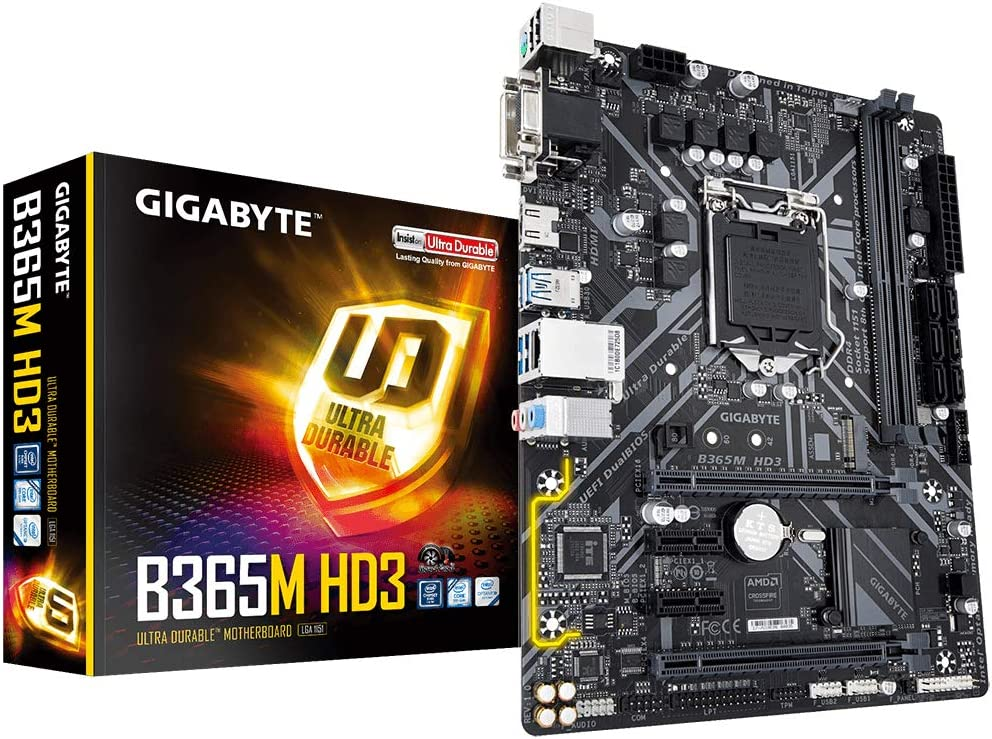 Socket 1151//B365 Express//DDR4//S-ATA 600//Micro ATX Gigabyte B365M DS3H
