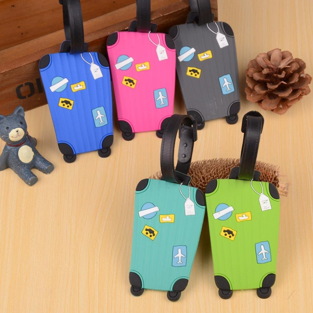 Outtop Durable Personalized Cute Suitcase Luggage Bag Tags 8 x 5cm (Green) by OutTop (Image #3)