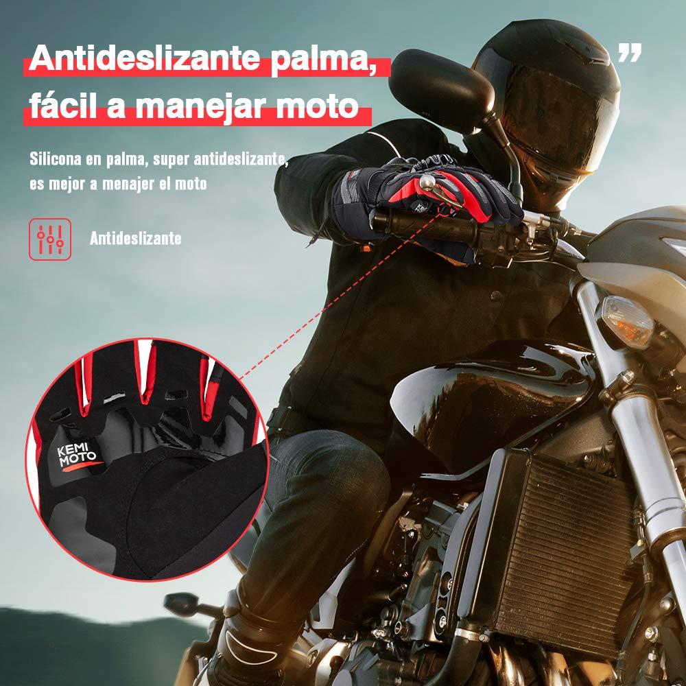 Guantes Moto Invierno Impermeable Pantalla T/áctil Guantes Protectores de Motociclismo Dedo Completo para Invierno