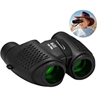 Aurosports Kids Auto Focus Binoculars with High Resolution, Shockproof 8x22 Binoculars Safe for Children, Christmas Birthday Present Best Toy Gifts for Hiking Camping Bird Watching Traveling(Black)