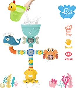 HOMILY Bath Toys Waterfall Bath Wall Bathtub Toys for Baby Toddler Kids