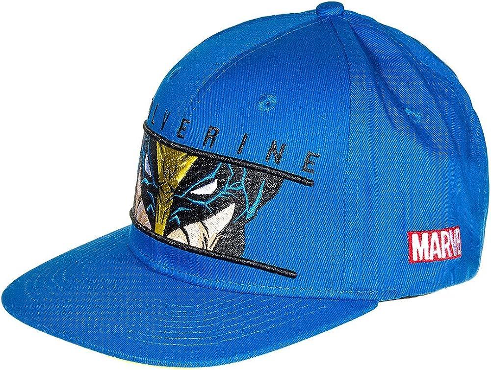 Gorra de Wolverine Lobezno de Marvel Comics (Azul): Amazon.es ...