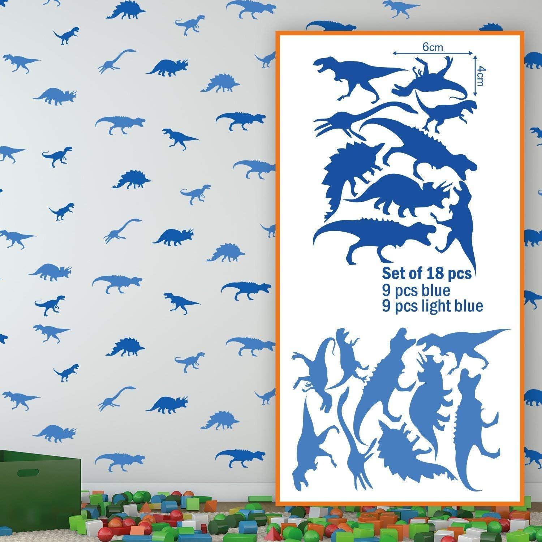 Vinyl Blue WallflexiDinosaurs Removable Self-Adhesive Office Home Decoration Wall Stickers