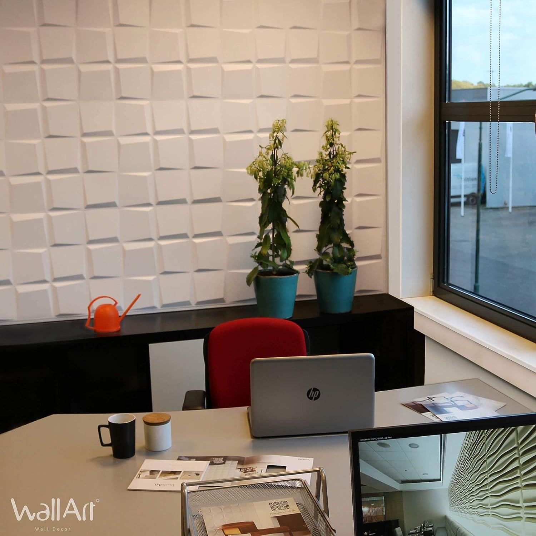 Wall Panel 3D Oberon for Wall Decor Panels 3D I 12 Decorative Panels 3m/² I Wall Covering WallArt Wall Decoration Living Room Bedroom I Wall Covering Wallpaper 3D Wall 3D