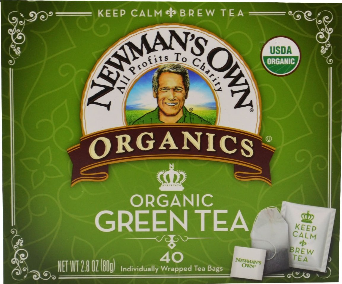 Newman's Own Organics Green Tea, 40 Count (Pack of 6)