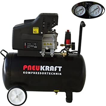Compresor de aire portátil 24l – 2.0hp 115PSI 8 bar 230 V, 1,