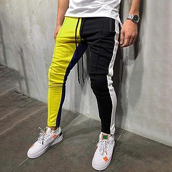 Pantalones Hombre Verano Moda Costura Casual Hip Hop Bolsillo ...