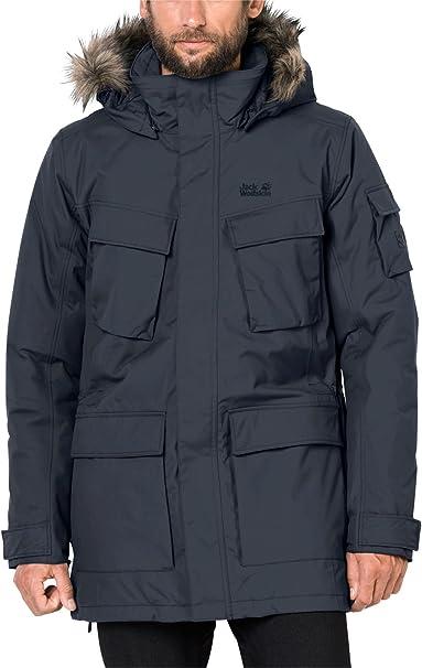 Jack Wolfskin Glacier Canyon Parka Coat in Night Blue
