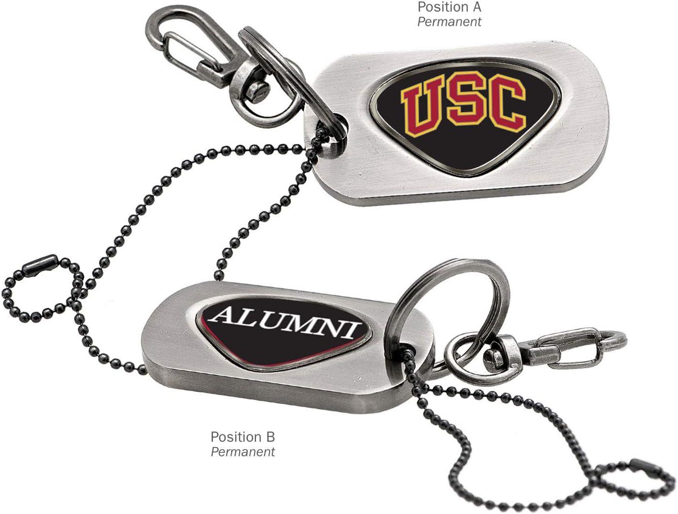 Silver AdSpec NCAA USC Trojans Collegiate Dog Tag Key ChainCollegiate Dog Tag Key Chain One Size