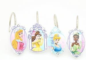 Disney Princess Shower Curtain Hooks Kids Girls