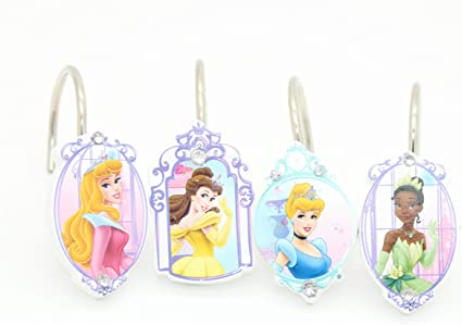 Disney Princess Shower Curtain Hooks Set of 12