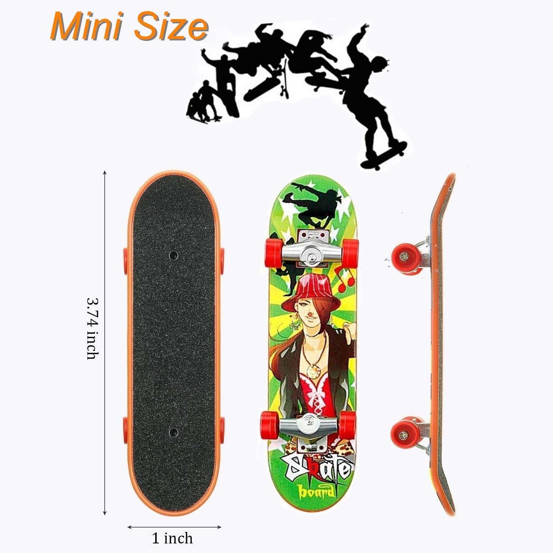 Szene D QNFY Mini Finger Skateboard Deck Truck Board mit Rampe Zubeh/ör Sets Fingerboard Skatepark Spielzeug Ultimate Parks Trainings Requisiten