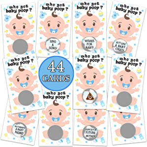 Baby Shower Games- Baby Shower Lottery Tickets Games Door Prizes Scratch Off Cards Games Baby Shower Party Favor- 44 Cards